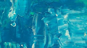 Preview wallpaper paint, canvas, strokes, texture, blue, abstraction, modern art