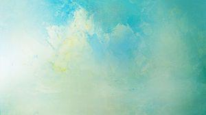 Preview wallpaper paint, cracks, soft colors, blue