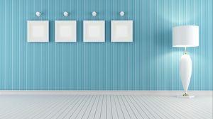 Preview wallpaper paintings, floor, wall, lamp