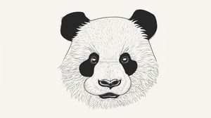 Preview wallpaper panda, art, muzzle