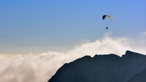 Preview wallpaper paraglider, flying, sky, mountains, extreme