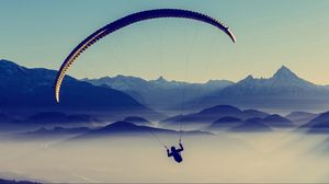 Preview wallpaper paragliding, sky, flight
