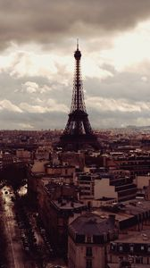 Preview wallpaper paris, eiffel tower, top view