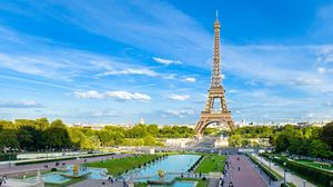 Preview wallpaper paris, france, eiffel tower, sky, blue