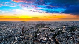 Preview wallpaper paris, france, height, city, sky