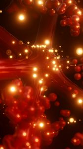Preview wallpaper particles, molecules, structure, glow