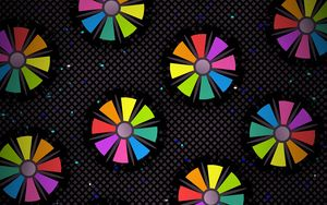 Preview wallpaper pattern, color, flowers, circles, petals