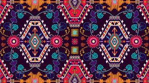 Preview wallpaper pattern, ornament, motif, colorful, texture