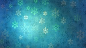 Preview wallpaper pattern, snowflakes, christmas, new year, holiday, blue