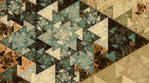 Preview wallpaper pattern, triangles, geometry, colorful, fractal