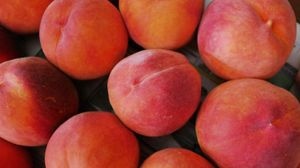 Preview wallpaper peaches, fruit, ripe