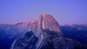 Preview wallpaper peak, rock, california, twilight, mountain