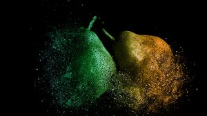 Preview wallpaper pears, photoshop, destruction
