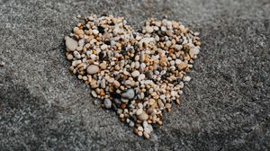 Preview wallpaper pebbles, heart, love, stone
