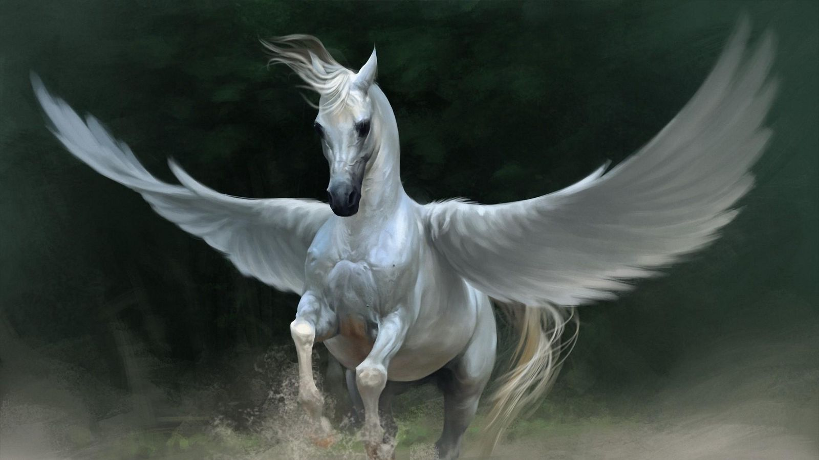 1600x900 Wallpaper pegasus, horse, wings