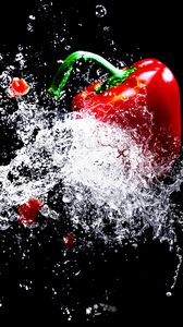 Preview wallpaper pepper, spray, drops