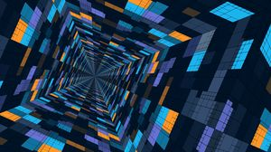 Preview wallpaper perspective, geometric, pattern, color, structure, futuristic
