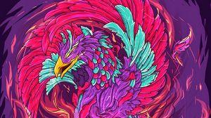 Download wallpaper 1920x1080 rise, myth, fire, bird, phoenix
