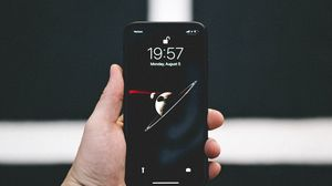 Preview wallpaper phone, smartphone, hand, black, dark