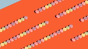 Preview wallpaper candy, colorful, sweets, minimalism