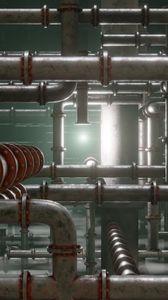 Preview wallpaper pipes, metal, metallic, glow