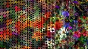 Preview wallpaper pixels, circles, colorful, generative art
