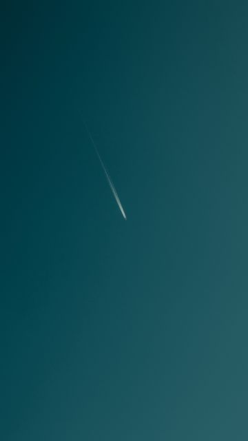 360x640 Wallpaper plane, trail, sky, minimalism, bottom view