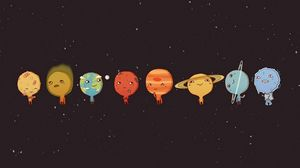 Preview wallpaper planet, art, vector, picture, sky