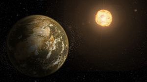 Preview wallpaper planet, asteroids, stars, space, outer space