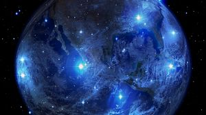 Preview wallpaper planet, earth, stars, universe, space, astronomy