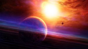 Preview wallpaper planet, haze, light, nebula