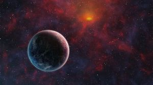Preview wallpaper planet, space, satellite, universe, outer space, galaxies, stars