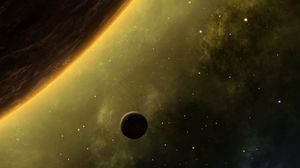 Preview wallpaper planet, space, satellite, outer space