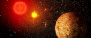 Preview wallpaper planet, stars, shine, space, universe
