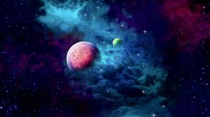 Preview wallpaper planets, nebula, cloud, galaxy, space