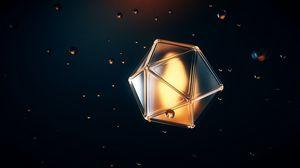 Preview wallpaper polyhedron, shape, bubbles, volumetric, 3d