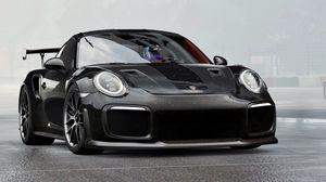 Preview wallpaper porsche 911 gt2 rs, porsche 911, porsche, sports car, race, black