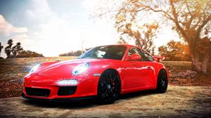 Preview wallpaper porsche, auto, car, cars, red