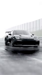 Preview wallpaper porsche, sports car, supercar, black, racing