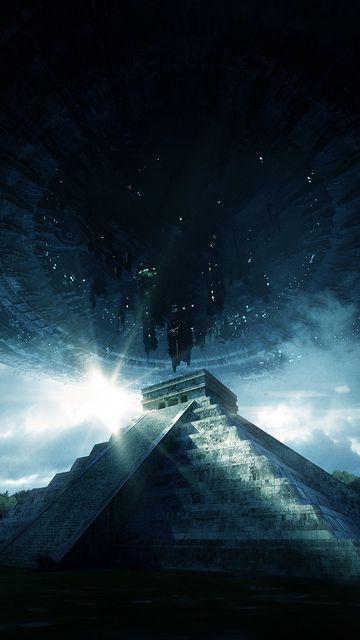 360x640 Wallpaper pyramid, ufo, aliens, visit, contact, extraterrestrial, civilization