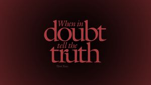 Preview wallpaper quote, doubt, truth, axiom, saying