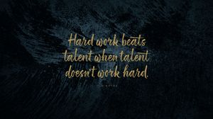 Preview wallpaper quote, phrase, motivation, work, talent, inspiration