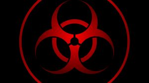 Preview wallpaper radiation, sign, symbol, red, black