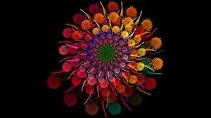 Preview wallpaper rainbow, flower, spiral, fractal