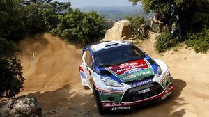 Preview wallpaper rally, wrc, dust, fiesta, ford