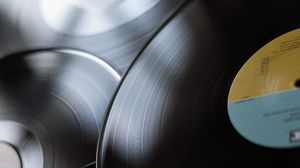 Preview wallpaper records, phonograph record, vinyl record, retro, music