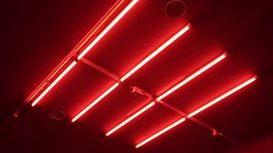 Preview wallpaper red, neon, glows