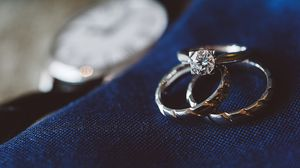 Preview wallpaper rings, diamond, jewelry, love, romance