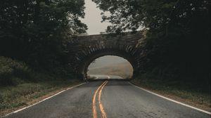 Preview wallpaper road, bridge, arch, asphalt, turn