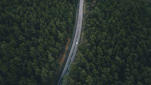 Preview wallpaper road, trees, top view
